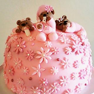 Sleepy Bears Cake/Cupcake Tower