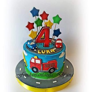 Kids vehicle cake - Cake by Fondantfantasy