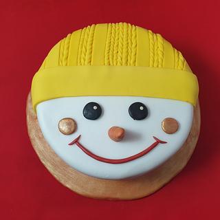 Snowman cake - Cake by Amal