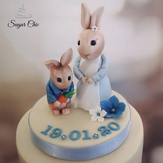 × Peter Rabbit Christening Cake ×