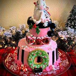 Grimm the Mouse Christmas Cake - Cake by Bethann Dubey