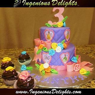 Disney Princesses Birthday Cake