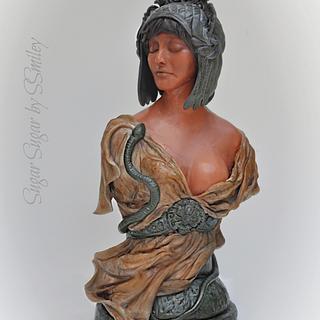 Cleopatra - Terracotta Collaboration - Cake by Sandra Smiley