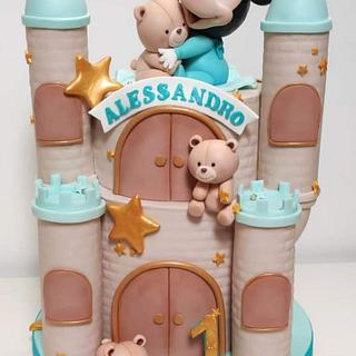 Mickey castle💕😊 - Cake by Melissa Ramirez