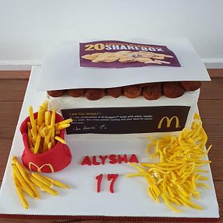 Mc donald cake  - Cake by Cake Rotterdam