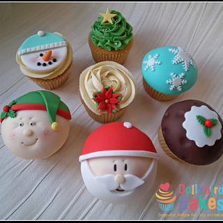 Christmas Cupcakes  - Cake by Dollybird Bakes