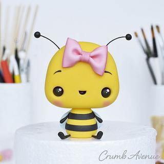 Cute Bee Cake Topper - Cake by Crumb Avenue
