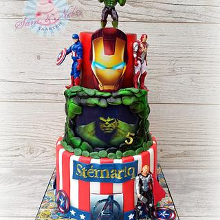 Marvel Superhero cakes