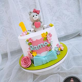 1st birthday cake for girls - Cake by Jojo