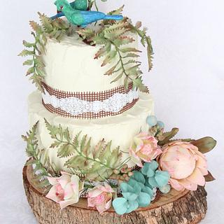 South African wedding cake