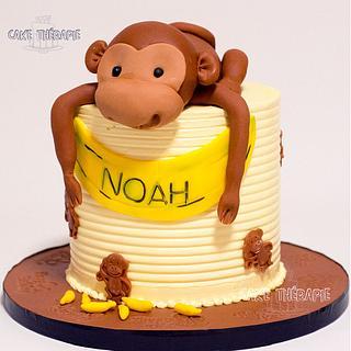 Monkey themed cake - Cake by Caketherapie