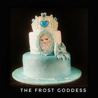 Princess Elsa cake - Cake by thefrostgoddess