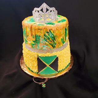 Jamaican Themed Birthday Cake