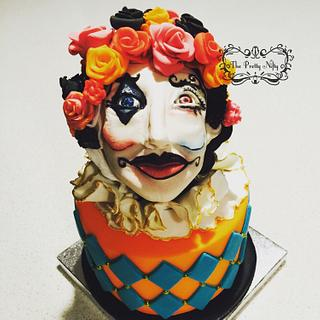 Harlequin themed cake