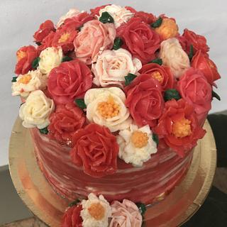 Flores de glossy buttercream