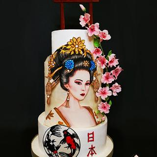 Geisha Bride Cake - Cake by Katia Malizia