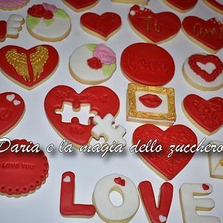 Valentine cookies collection