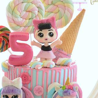 Lol's surprise doll cake  - Cake by BettyCakesEbthal