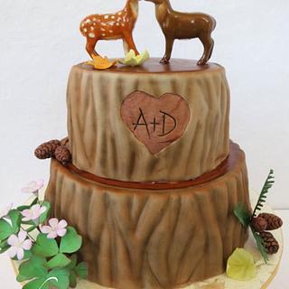 Redwood Tree Wedding Cake