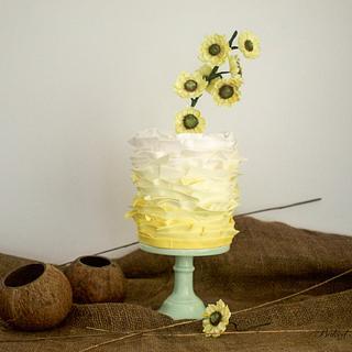 Sunflowers Frill Cake