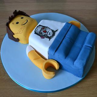 Lego Mini-figure cake - Cake by Laura Galloway