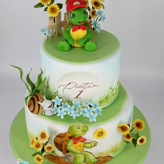 Franklin TheTurtle Cake  - Cake by Arianna
