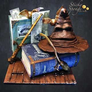 Harry Potter cake - Cake by Sticky Sponge Cake Studio
