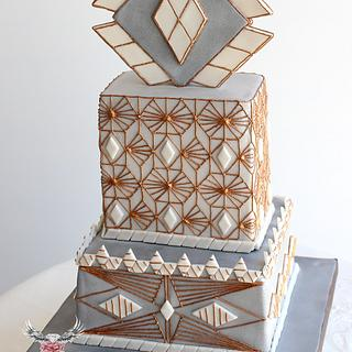 Art Déco Wedding Cake