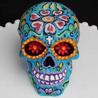 Chocolate Sugar Skull Detail