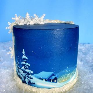 Winter Night Cake