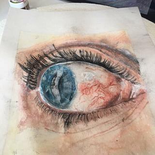 Eye, painted
