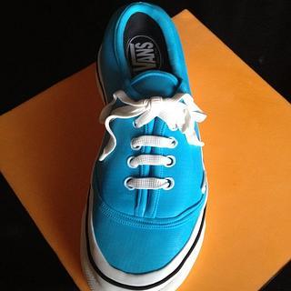Blue vans shoe