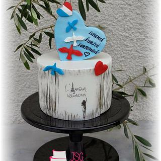 My contribution to Cakes Against Violence Collaboration - Love will always win