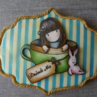 Gorjuss handpainted cookie II