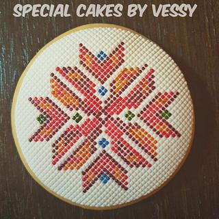 Bulgarian embroidery cookie 2
