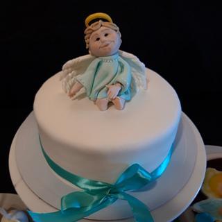 Little Angel Christening Cake