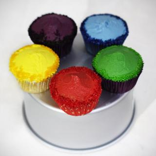 Colorful cuppies