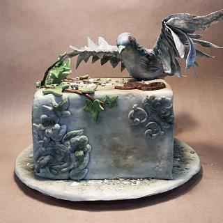 Pigeon vintage cake
