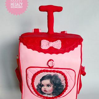 Girl bag cake.. School bag cake - Cake by Mahy hegazy
