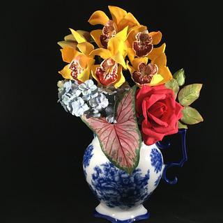 Gumpaste floral arrangement