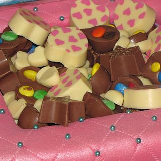 Quilted box of chocolates cake