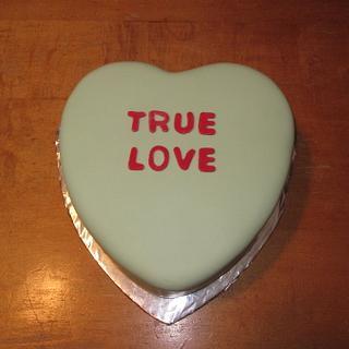 Conversation Heart Cake - Cake by Kimberley Jemmott