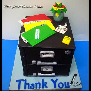 Office File Cabinet Cake