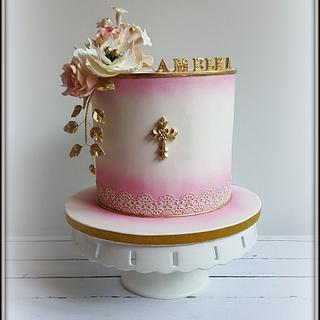 Communion cake for Amelia