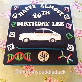 Almost 40th birthday cake - vintage VW - Cake by Mummypuddleduck
