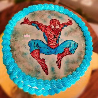 Spider Man - Cake by Arti trivedi