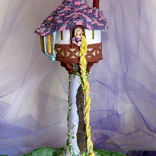 Rapunzel Tower Cake & Cookies - Cake by Sugar & Spice Cake Shop