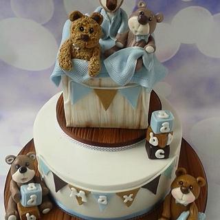 Toy box christening cake