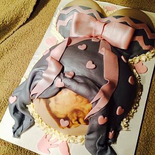 Sonogram belly cake