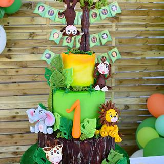 Jungle cake for my lovely grandson's birthday